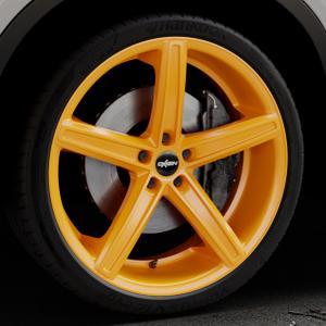 OXIGIN 18 Concave neon orange Felge mit Reifen in 22Zoll Winterfelge Alufelge auf silbernem BMW X6 Typ F16 (X6, X-N1) ⬇️ mit 15mm Tieferlegung ⬇️ Industriehalle 1 Thumbnail