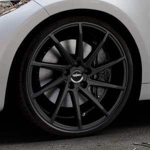 OXIGIN 20 Attraction black Felge mit Reifen schwarz in 20Zoll Winterfelge Alufelge auf silbernem BMW M2 Typ F87 ⬇️ mit 15mm Tieferlegung ⬇️ Industriehalle 1 Thumbnail