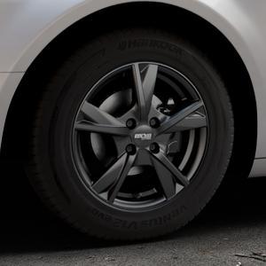 OXXO Mimas Matt black Felge mit Reifen schwarz in 15Zoll Winterfelge Alufelge auf silbernem Citroen C5 II ⬇️ mit 15mm Tieferlegung ⬇️ Industriehalle 1 Thumbnail