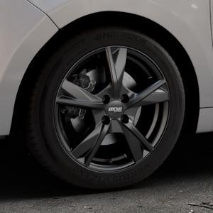 OXXO Mimas Matt black Felge mit Reifen schwarz in 16Zoll Winterfelge Alufelge auf silbernem Citroen C3 Picasso ⬇️ mit 15mm Tieferlegung ⬇️ Industriehalle 1 Thumbnail