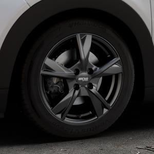 OXXO Mimas Matt black Felge mit Reifen schwarz in 16Zoll Winterfelge Alufelge auf silbernem Citroen C4 Cactus Typ 0 ⬇️ mit 15mm Tieferlegung ⬇️ Industriehalle 1 Thumbnail