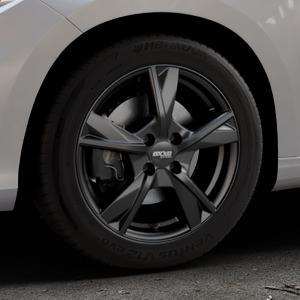 OXXO Mimas Matt black Felge mit Reifen schwarz in 16Zoll Winterfelge Alufelge auf silbernem Fiat Tipo II Limousine Typ 356 ⬇️ mit 15mm Tieferlegung ⬇️ Industriehalle 1 Thumbnail