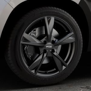 OXXO Mimas Matt black Felge mit Reifen schwarz in 18Zoll Winterfelge Alufelge auf silbernem Dacia Duster Typ SR ⬇️ mit 15mm Tieferlegung ⬇️ Industriehalle 1 Thumbnail