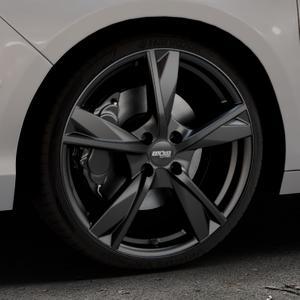OXXO Mimas Matt black Felge mit Reifen schwarz in 19Zoll Winterfelge Alufelge auf silbernem Citroen C4 Typ N ⬇️ mit 15mm Tieferlegung ⬇️ Industriehalle 1 Thumbnail