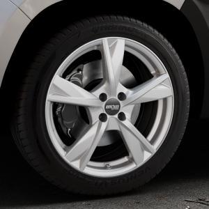 OXXO Mimas Silver Felge mit Reifen silber in 18Zoll Winterfelge Alufelge auf silbernem Dacia Duster Typ SR ⬇️ mit 15mm Tieferlegung ⬇️ Industriehalle 1 Thumbnail
