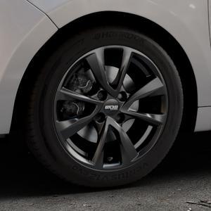 OXXO Oberon 4 Black Felge mit Reifen schwarz in 16Zoll Winterfelge Alufelge auf silbernem Citroen C3 Picasso ⬇️ mit 15mm Tieferlegung ⬇️ Industriehalle 1 Thumbnail