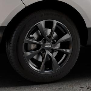 OXXO Oberon 4 Black Felge mit Reifen schwarz in 16Zoll Winterfelge Alufelge auf silbernem Ford EcoSport Typ JK8 Facelift ⬇️ mit 15mm Tieferlegung ⬇️ Industriehalle 1 Thumbnail