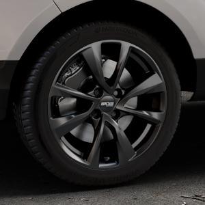 OXXO Oberon 4 Black Felge mit Reifen schwarz in 17Zoll Winterfelge Alufelge auf silbernem Ford EcoSport Typ JK8 ⬇️ mit 15mm Tieferlegung ⬇️ Industriehalle 1 Thumbnail