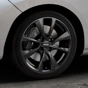 OXXO Oberon 4 Black Felge mit Reifen schwarz in 17Zoll Winterfelge Alufelge auf silbernem Peugeot 207 SW ⬇️ mit 15mm Tieferlegung ⬇️ Industriehalle 1 Thumbnail
