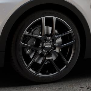 OXXO Vapor Black Felge mit Reifen schwarz in 18Zoll Winterfelge Alufelge auf silbernem Opel Ampera-e Typ 1G0F ⬇️ mit 15mm Tieferlegung ⬇️ Industriehalle 1 Thumbnail