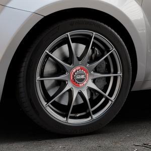 OZ RACING FORMULA HLT GRIGIO CORSA Felge mit Reifen silber in 17Zoll Winterfelge Alufelge auf silbernem Alfa Romeo Mito Typ 955 ⬇️ mit 15mm Tieferlegung ⬇️ Industriehalle 1 Thumbnail