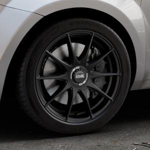 OZ RACING FORMULA HLT MATT BLACK Felge mit Reifen schwarz in 17Zoll Winterfelge Alufelge auf silbernem Alfa Romeo Mito Typ 955 ⬇️ mit 15mm Tieferlegung ⬇️ Industriehalle 1 Thumbnail