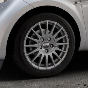 OZ RACING SUPERTURISMO GT GRIGIO CORSA Felge mit Reifen silber in 15Zoll Winterfelge Alufelge auf silbernem Smart Fortwo Coupe III (14-) (453) Cabrio (16-) ⬇️ mit 15mm Tieferlegung ⬇️ Industriehalle 1 Thumbnail