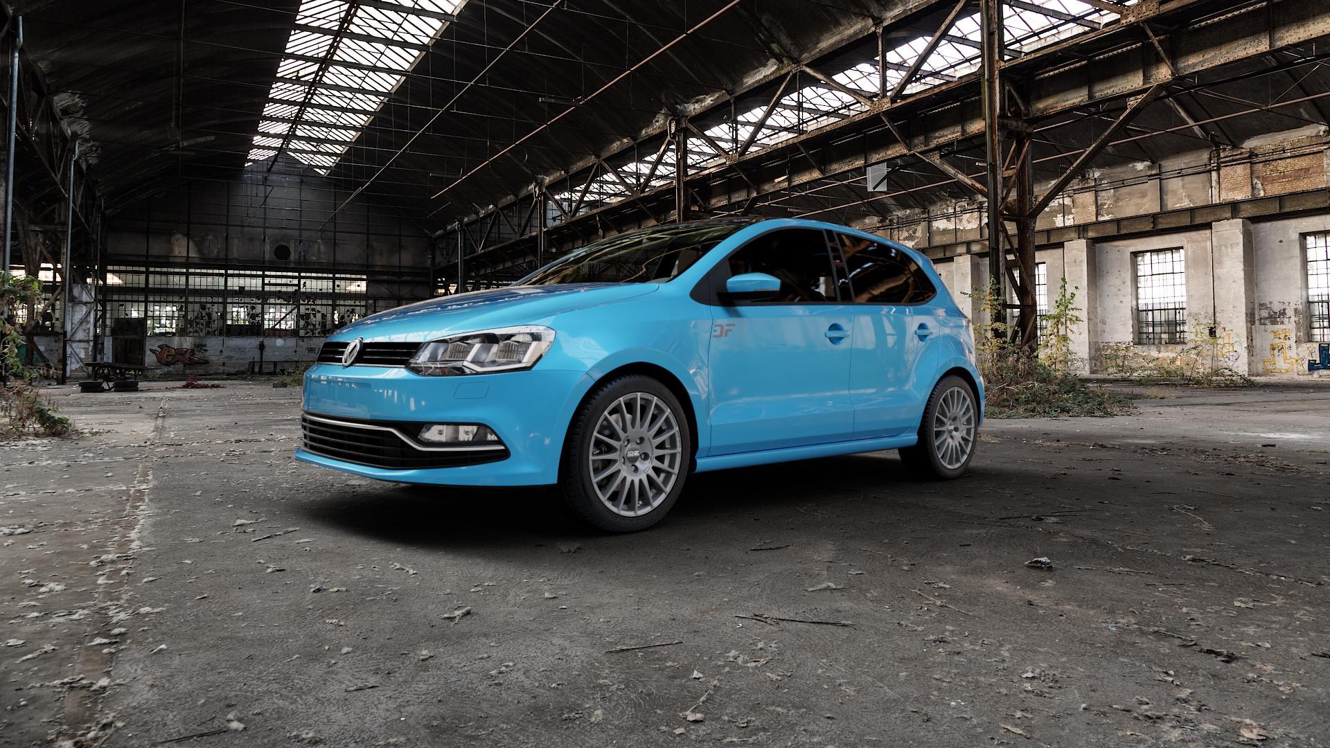 OZ RACING SUPERTURISMO GT GRIGIO CORSA Felge mit Reifen silber in 16Zoll Winterfelge Alufelge auf hellblau Volkswagen (VW) Polo V Typ 6C 1,0l 44kW (60 PS) 55kW (75 1,2l TSI 66kW (90 81kW (110 1,4l TDI 77kW (105 110kW (150 70kW (95 ⬇️ mit 15mm Tieferlegung ⬇️ Industriehalle 1 Camera_000