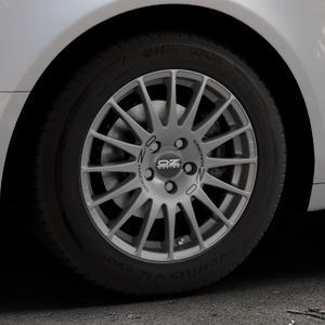OZ RACING SUPERTURISMO GT GRIGIO CORSA Felge mit Reifen silber in 16Zoll Winterfelge Alufelge auf silbernem Audi A6 Typ 4F/C6 (Limousine) ⬇️ mit 15mm Tieferlegung ⬇️ Industriehalle 1 Thumbnail