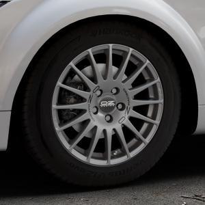 OZ RACING SUPERTURISMO GT GRIGIO CORSA Felge mit Reifen silber in 16Zoll Winterfelge Alufelge auf silbernem Audi TT II Typ 8J (Roadster) ⬇️ mit 15mm Tieferlegung ⬇️ Industriehalle 1 Thumbnail