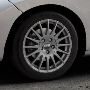 OZ RACING SUPERTURISMO GT GRIGIO CORSA Felge mit Reifen silber in 16Zoll Winterfelge Alufelge auf silbernem Peugeot 207 CC ⬇️ mit 15mm Tieferlegung ⬇️ Industriehalle 1 Thumbnail