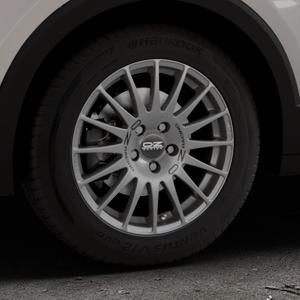 OZ RACING SUPERTURISMO GT GRIGIO CORSA Felge mit Reifen silber in 16Zoll Winterfelge Alufelge auf silbernem Volkswagen (VW) T-Cross ⬇️ mit 15mm Tieferlegung ⬇️ Industriehalle 1 Thumbnail
