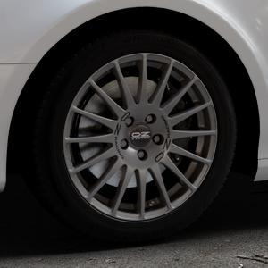 OZ RACING SUPERTURISMO GT GRIGIO CORSA Felge mit Reifen silber in 17Zoll Winterfelge Alufelge auf silbernem Audi A4 Typ 8K5/B8 (Avant) ⬇️ mit 15mm Tieferlegung ⬇️ Industriehalle 1 Thumbnail