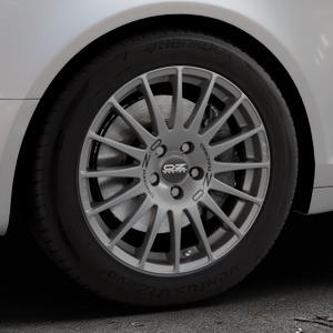 OZ RACING SUPERTURISMO GT GRIGIO CORSA Felge mit Reifen silber in 17Zoll Winterfelge Alufelge auf silbernem Audi A6 Typ 4F/C6 (Avant) ⬇️ mit 15mm Tieferlegung ⬇️ Industriehalle 1 Thumbnail