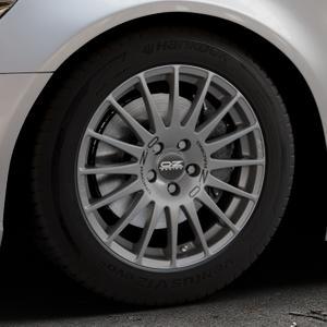 OZ RACING SUPERTURISMO GT GRIGIO CORSA Felge mit Reifen silber in 17Zoll Winterfelge Alufelge auf silbernem Audi A6 Typ 4G/C7 (Limousine) ⬇️ mit 15mm Tieferlegung ⬇️ Industriehalle 1 Thumbnail