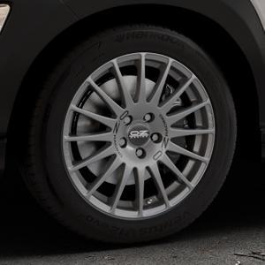 OZ RACING SUPERTURISMO GT GRIGIO CORSA Felge mit Reifen silber in 17Zoll Winterfelge Alufelge auf silbernem Hyundai Kona Typ OS ⬇️ mit 15mm Tieferlegung ⬇️ Industriehalle 1 Thumbnail