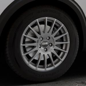 OZ RACING SUPERTURISMO GT GRIGIO CORSA Felge mit Reifen silber in 17Zoll Winterfelge Alufelge auf silbernem Peugeot 5008 Typ M ⬇️ mit 15mm Tieferlegung ⬇️ Industriehalle 1 Thumbnail