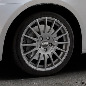 OZ RACING SUPERTURISMO GT GRIGIO CORSA Felge mit Reifen silber in 17Zoll Winterfelge Alufelge auf silbernem Suzuki Swift V Typ NZ FZ ⬇️ mit 15mm Tieferlegung ⬇️ Industriehalle 1 Thumbnail