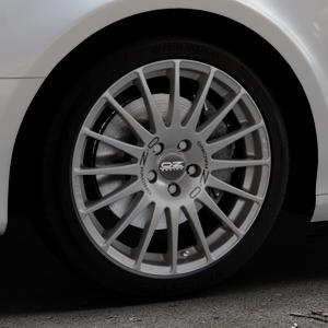 OZ RACING SUPERTURISMO GT GRIGIO CORSA Felge mit Reifen silber in 18Zoll Winterfelge Alufelge auf silbernem Audi A4 Typ 8K5/B8 (Avant) ⬇️ mit 15mm Tieferlegung ⬇️ Industriehalle 1 Thumbnail