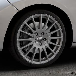 OZ RACING SUPERTURISMO GT GRIGIO CORSA Felge mit Reifen silber in 18Zoll Winterfelge Alufelge auf silbernem Peugeot 207 CC ⬇️ mit 15mm Tieferlegung ⬇️ Industriehalle 1 Thumbnail