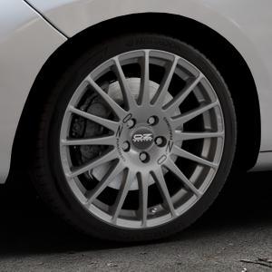 OZ RACING SUPERTURISMO GT GRIGIO CORSA Felge mit Reifen silber in 18Zoll Winterfelge Alufelge auf silbernem Peugeot 207 SW ⬇️ mit 15mm Tieferlegung ⬇️ Industriehalle 1 Thumbnail