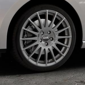 OZ RACING SUPERTURISMO GT GRIGIO CORSA Felge mit Reifen silber in 18Zoll Winterfelge Alufelge auf silbernem Seat Leon Typ 5F ST Facelift ⬇️ mit 15mm Tieferlegung ⬇️ Industriehalle 1 Thumbnail