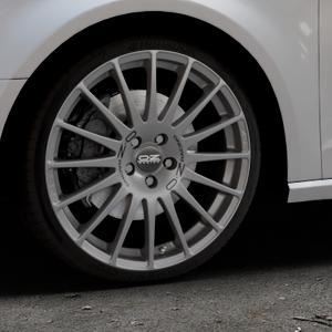 OZ RACING SUPERTURISMO GT GRIGIO CORSA Felge mit Reifen silber in 19Zoll Winterfelge Alufelge auf silbernem Audi A3 Typ 8V ⬇️ mit 15mm Tieferlegung ⬇️ Industriehalle 1 Thumbnail