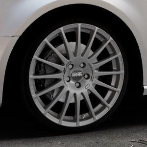 OZ RACING SUPERTURISMO GT GRIGIO CORSA Felge mit Reifen silber in 19Zoll Winterfelge Alufelge auf silbernem Audi A3 Typ 8V (Sportback) ⬇️ mit 15mm Tieferlegung ⬇️ Industriehalle 1 Thumbnail