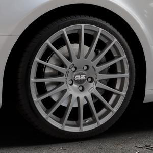 OZ RACING SUPERTURISMO GT GRIGIO CORSA Felge mit Reifen silber in 19Zoll Winterfelge Alufelge auf silbernem Audi A4 Typ 8K2/B8 (Limousine) ⬇️ mit 15mm Tieferlegung ⬇️ Industriehalle 1 Thumbnail