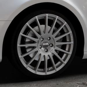 OZ RACING SUPERTURISMO GT GRIGIO CORSA Felge mit Reifen silber in 19Zoll Winterfelge Alufelge auf silbernem Audi A4 Typ 8K5/B8 (Avant) ⬇️ mit 15mm Tieferlegung ⬇️ Industriehalle 1 Thumbnail
