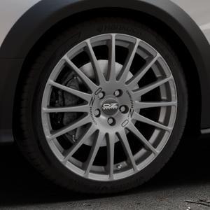 OZ RACING SUPERTURISMO GT GRIGIO CORSA Felge mit Reifen silber in 19Zoll Winterfelge Alufelge auf silbernem Audi A4 Typ 8KH/B8 Allroad ⬇️ mit 15mm Tieferlegung ⬇️ Industriehalle 1 Thumbnail
