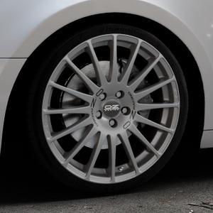 OZ RACING SUPERTURISMO GT GRIGIO CORSA Felge mit Reifen silber in 19Zoll Winterfelge Alufelge auf silbernem Audi A4 Typ B9 (Avant) ⬇️ mit 15mm Tieferlegung ⬇️ Industriehalle 1 Thumbnail