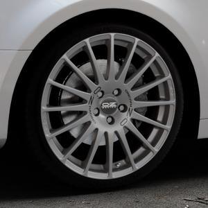 OZ RACING SUPERTURISMO GT GRIGIO CORSA Felge mit Reifen silber in 19Zoll Winterfelge Alufelge auf silbernem Audi A4 Typ B9 (Limousine) ⬇️ mit 15mm Tieferlegung ⬇️ Industriehalle 1 Thumbnail