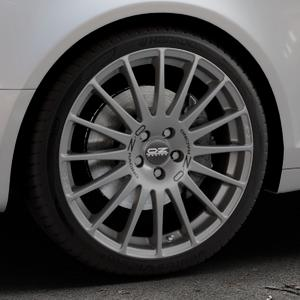 OZ RACING SUPERTURISMO GT GRIGIO CORSA Felge mit Reifen silber in 19Zoll Winterfelge Alufelge auf silbernem Audi A6 Typ 4F/C6 (Avant) ⬇️ mit 15mm Tieferlegung ⬇️ Industriehalle 1 Thumbnail