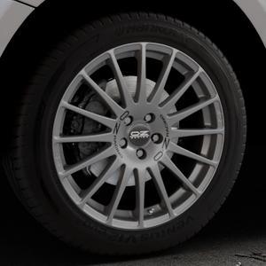 OZ RACING SUPERTURISMO GT GRIGIO CORSA Felge mit Reifen silber in 19Zoll Winterfelge Alufelge auf silbernem Audi Q5 I Typ 8R ⬇️ mit 15mm Tieferlegung ⬇️ Industriehalle 1 Thumbnail