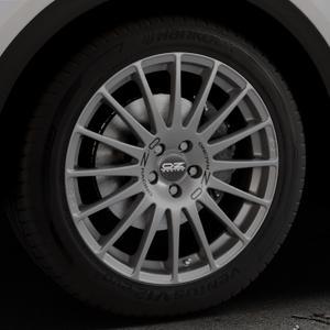 OZ RACING SUPERTURISMO GT GRIGIO CORSA Felge mit Reifen silber in 19Zoll Winterfelge Alufelge auf silbernem Audi Q5 II Typ FY ⬇️ mit 15mm Tieferlegung ⬇️ Industriehalle 1 Thumbnail