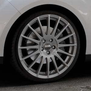 OZ RACING SUPERTURISMO GT GRIGIO CORSA Felge mit Reifen silber in 19Zoll Winterfelge Alufelge auf silbernem Ford C-Max II Typ DXA (10->) ⬇️ mit 15mm Tieferlegung ⬇️ Industriehalle 1 Thumbnail
