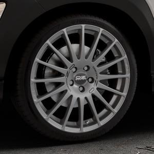 OZ RACING SUPERTURISMO GT GRIGIO CORSA Felge mit Reifen silber in 19Zoll Winterfelge Alufelge auf silbernem Hyundai Kona Typ OS ⬇️ mit 15mm Tieferlegung ⬇️ Industriehalle 1 Thumbnail