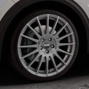 OZ RACING SUPERTURISMO GT GRIGIO CORSA Felge mit Reifen silber in 19Zoll Winterfelge Alufelge auf silbernem Kia Niro Typ DE ⬇️ mit 15mm Tieferlegung ⬇️ Industriehalle 1 Thumbnail