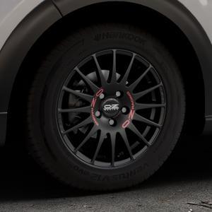 OZ RACING SUPERTURISMO GT MATT BLACK Felge mit Reifen schwarz in 15Zoll Winterfelge Alufelge auf silbernem Citroen C3 III ⬇️ mit 15mm Tieferlegung ⬇️ Industriehalle 1 Thumbnail