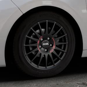 OZ RACING SUPERTURISMO GT MATT BLACK Felge mit Reifen schwarz in 15Zoll Winterfelge Alufelge auf silbernem Peugeot 208 Typ C ⬇️ mit 15mm Tieferlegung ⬇️ Industriehalle 1 Thumbnail