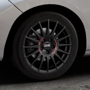 OZ RACING SUPERTURISMO GT MATT BLACK Felge mit Reifen schwarz in 16Zoll Winterfelge Alufelge auf silbernem Peugeot 207 CC ⬇️ mit 15mm Tieferlegung ⬇️ Industriehalle 1 Thumbnail
