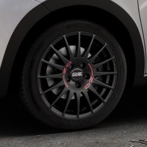 OZ RACING SUPERTURISMO GT MATT BLACK Felge mit Reifen schwarz in 16Zoll Winterfelge Alufelge auf silbernem Renault Twingo III Typ AH ⬇️ mit 15mm Tieferlegung ⬇️ Industriehalle 1 Thumbnail