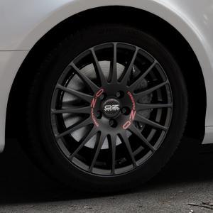 OZ RACING SUPERTURISMO GT MATT BLACK Felge mit Reifen schwarz in 17Zoll Winterfelge Alufelge auf silbernem Audi A4 Typ 8K5/B8 (Avant) ⬇️ mit 15mm Tieferlegung ⬇️ Industriehalle 1 Thumbnail